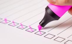 Voorbeeldfoto checklist