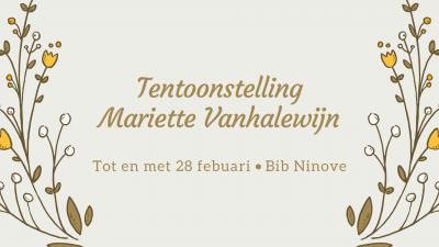 Tentoonstelling Mariette Vanhalewijn